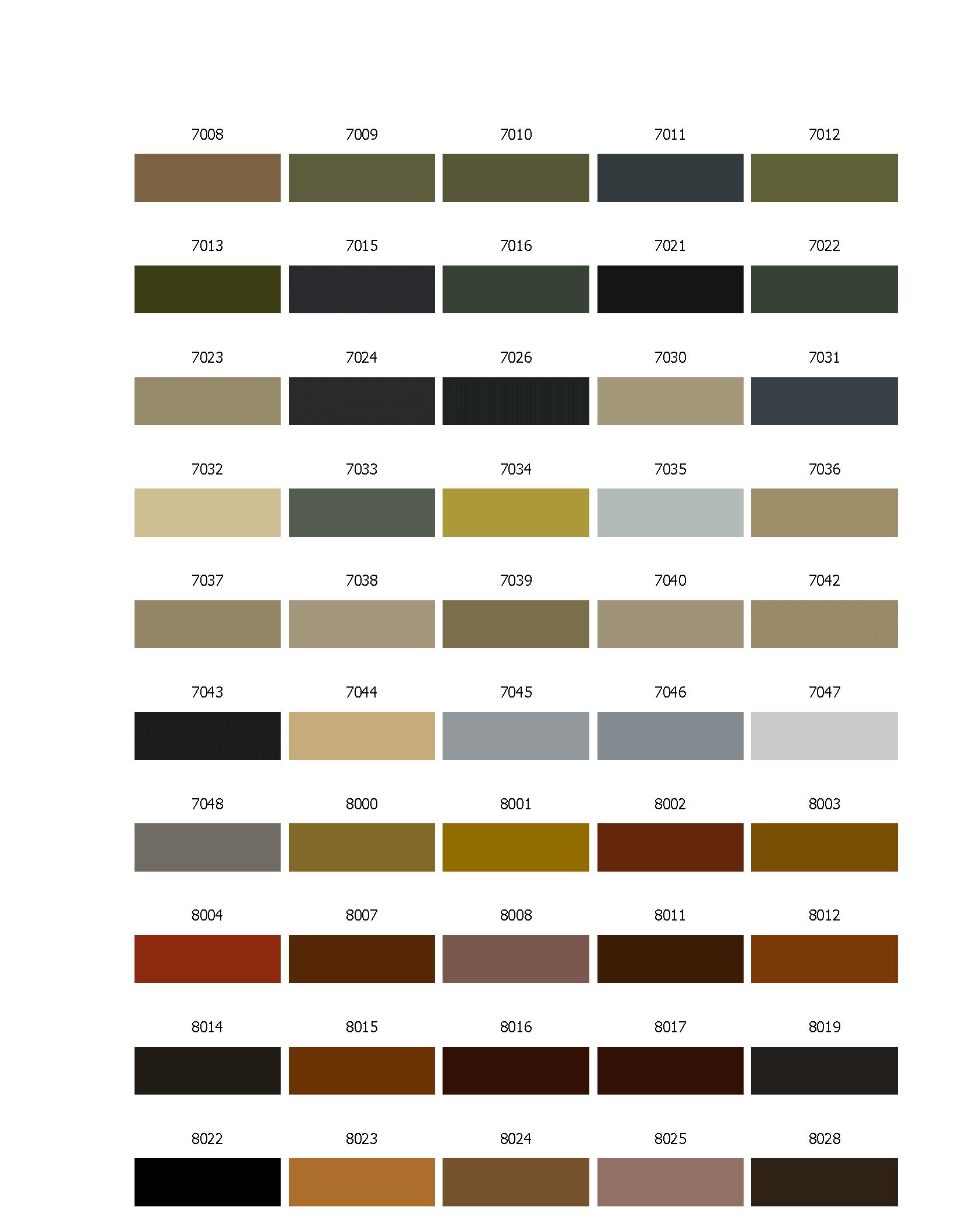 таблица цветов ral www.grand1.ru