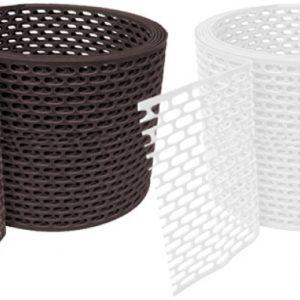 Лента вентиляционная ПВХ (коричневая/белая) 100х5000 BWK (5м)