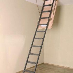 Чердачная лестница Fakro металлическая складная LMS