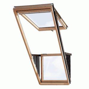 Окно-балкон Velux Cabrio GDL 3066 114×252 верхняя+нижняя часть