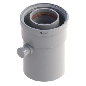 Конденсатоотводчик горизонтальный диам.60/100 RTF08.003